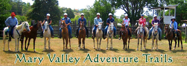 Mary Valley Adventure Trails - horse riding in Gympie and the Mary Valley.